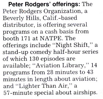 Peter Rodgers' offerings